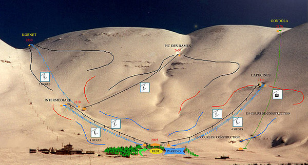 Cedars Piste / Trail Map