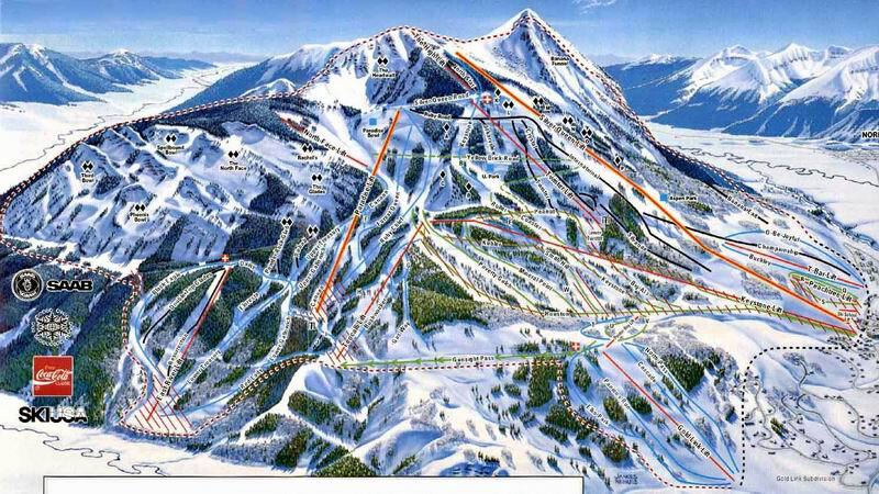 Crested Butte Piste / Trail Map