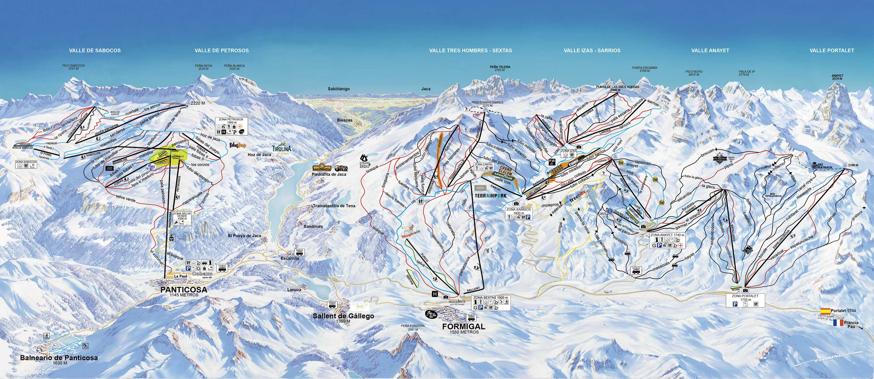 Formigal Piste / Trail Map