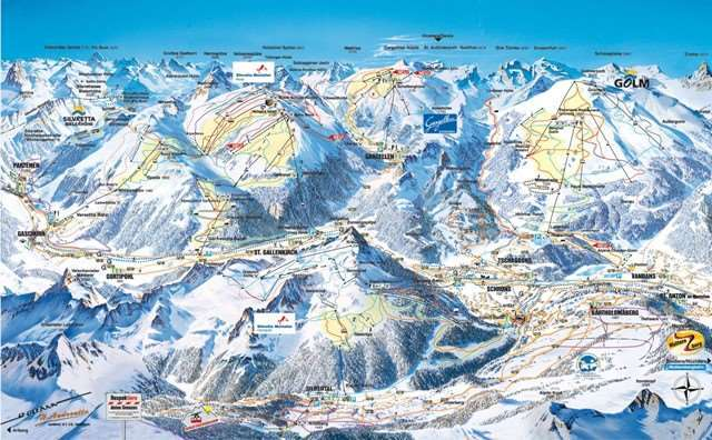 Gaschurn Piste / Trail Map