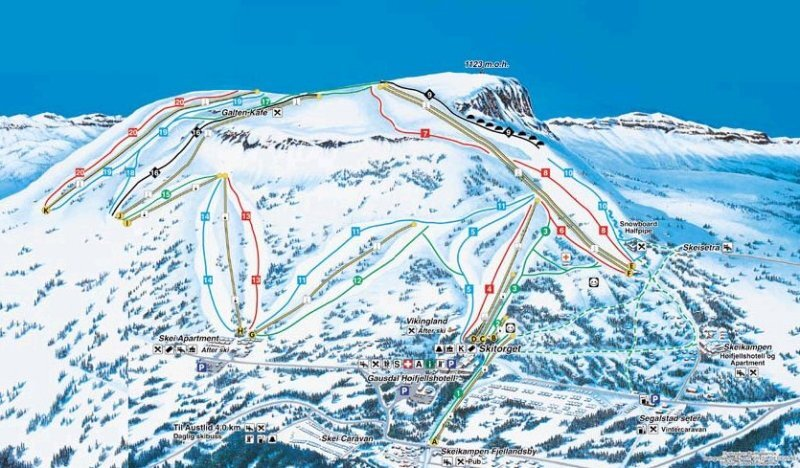 Gausdal Piste / Trail Map