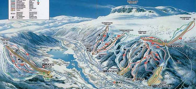 Geilo Piste / Trail Map