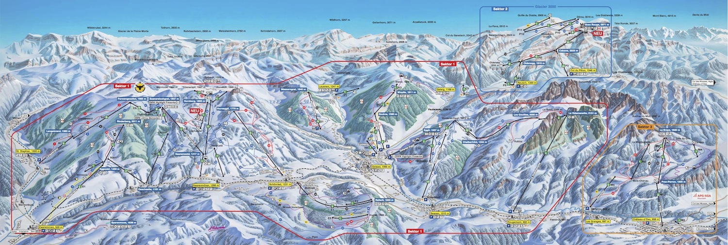 Gstaad Piste / Trail Map