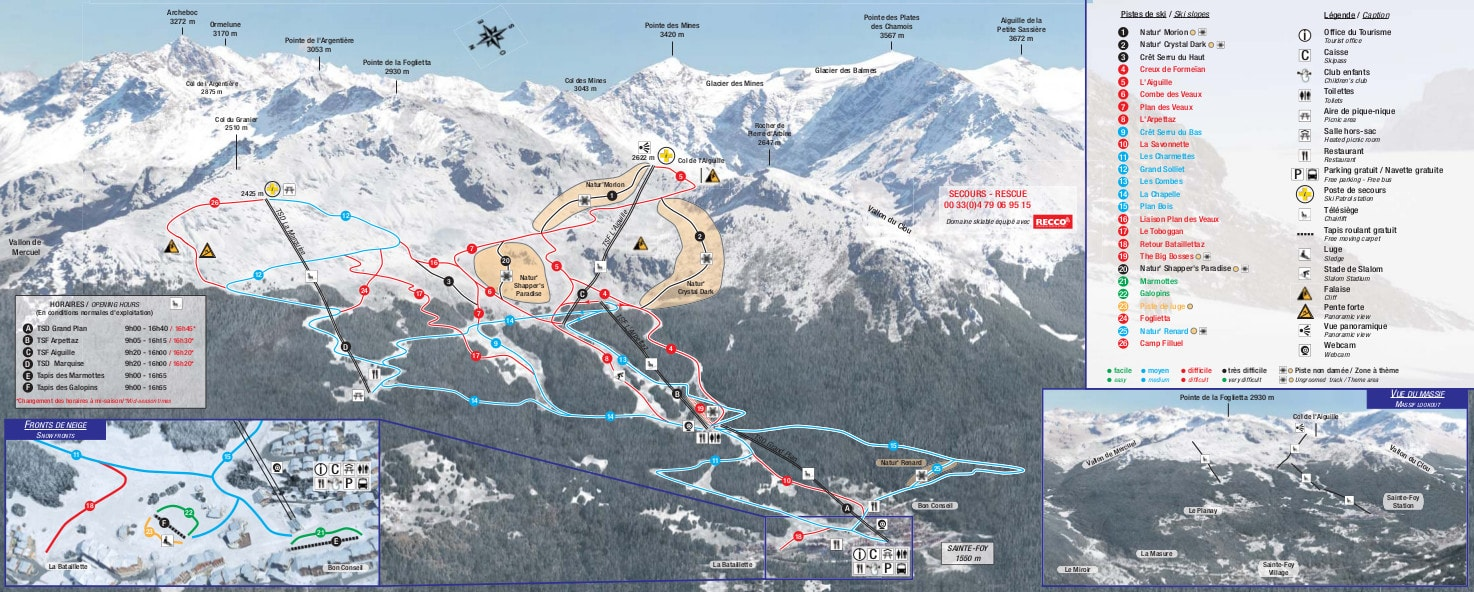 Sainte Foy Piste / Trail Map
