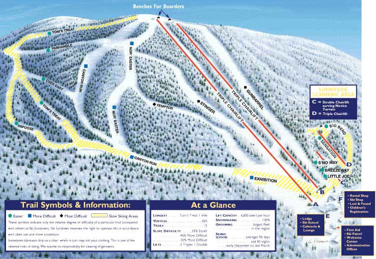 Ski Sundown Piste / Trail Map