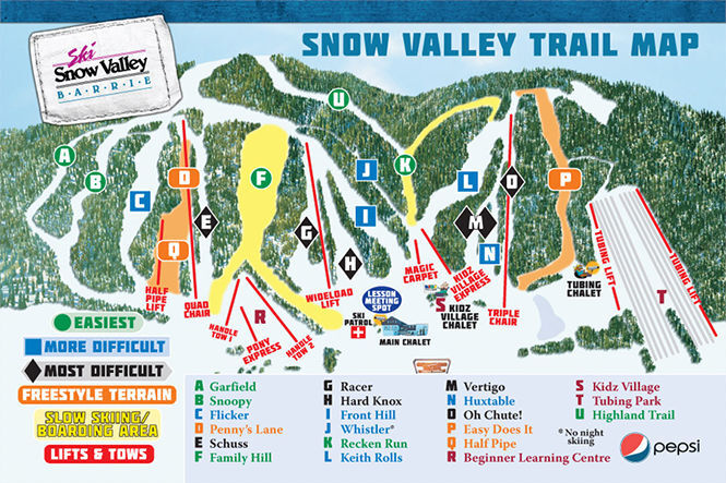 Snow Valley Piste / Trail Map