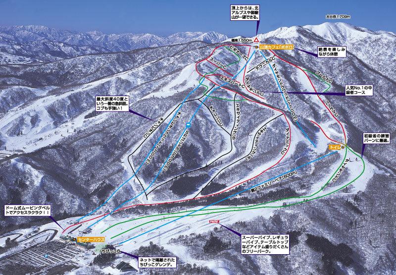 Takasu Snow Park Схема трасс / маршрутов.