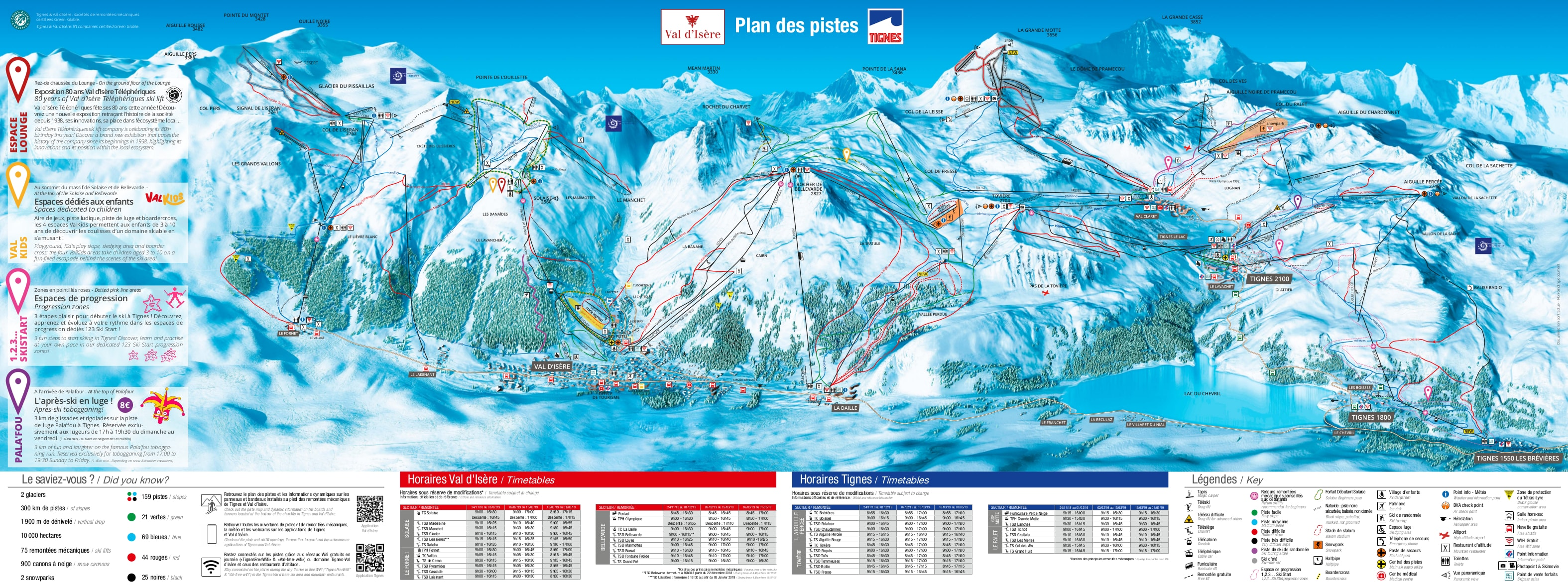 Tignes Piste / Trail Map