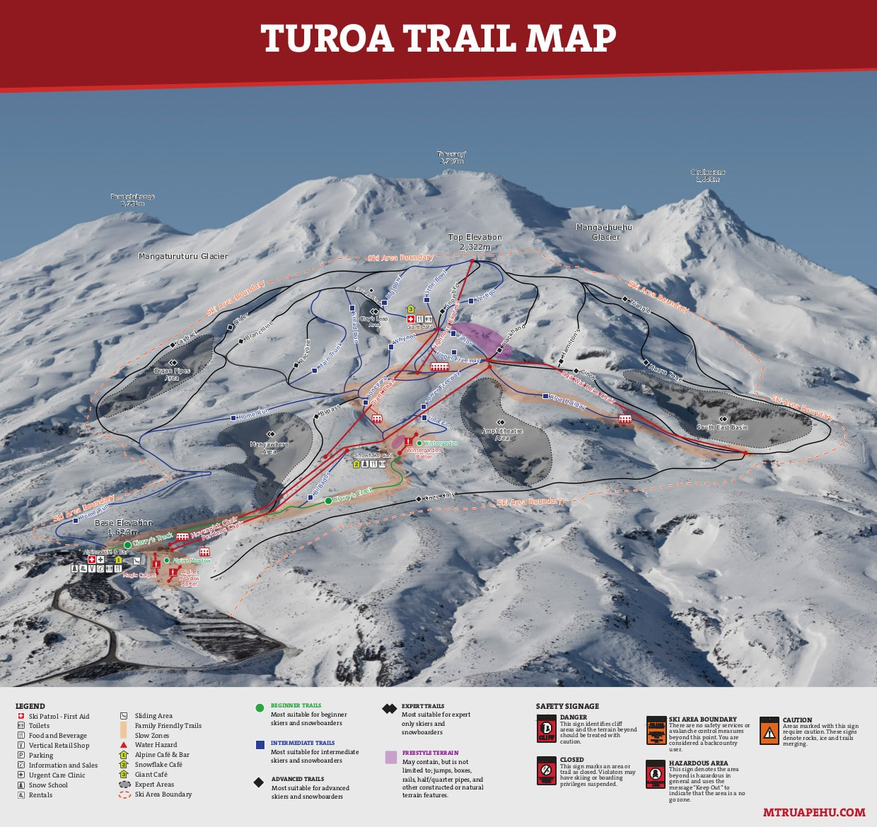 Turoa Piste / Trail Map