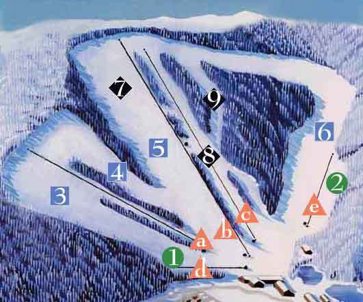 Appalachian Ski Mountain Piste / Trail Map