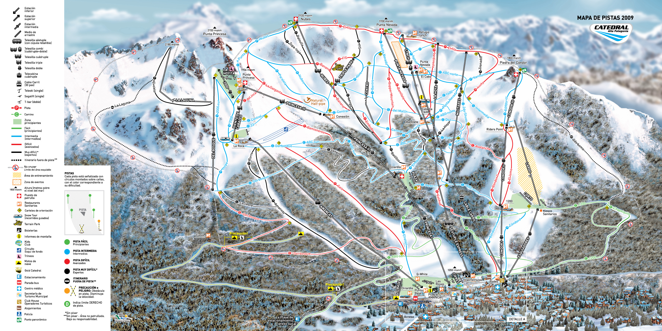 Cerro Catedral Piste / Trail Map