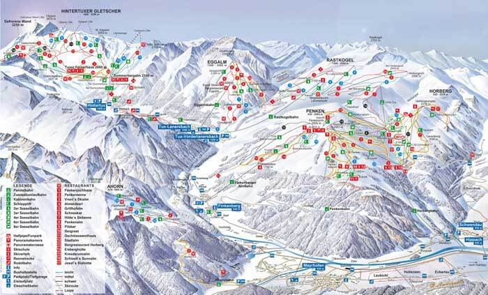Finkenberg Piste / Trail Map