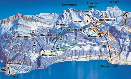 Klewenalp - Stockhütte Piste / Trail Map