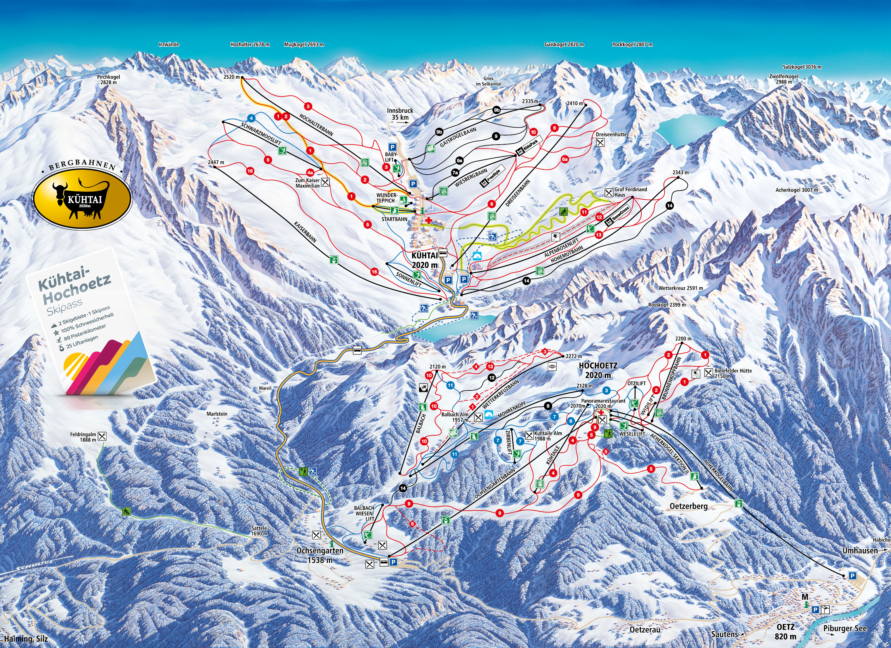 Kühtai Piste / Trail Map