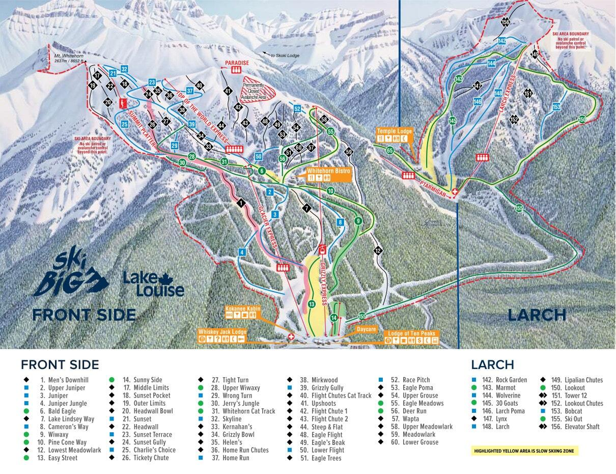 Lake Louise Piste / Trail Map