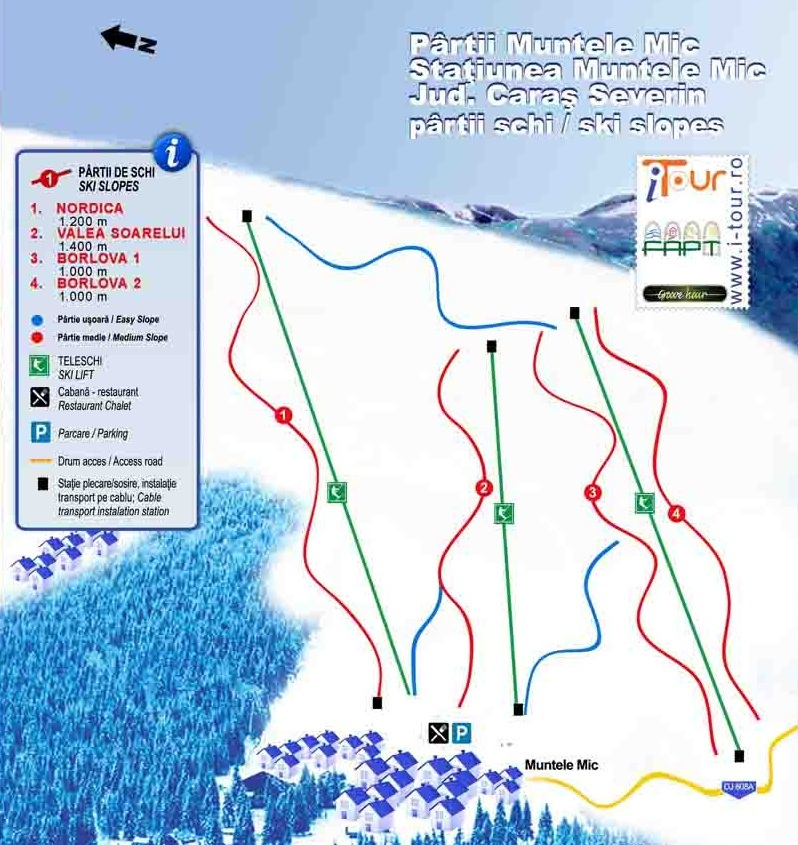 Muntele Mic Piste / Trail Map